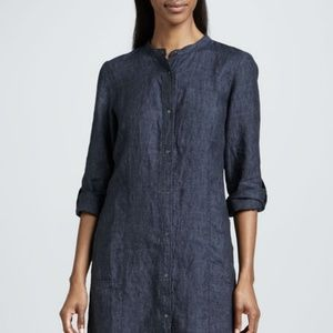 Eileen Fisher • Washed Linen Snap Button Dress